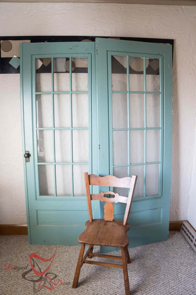Painted Old French Doors-Pixie Dust Paint Company-Before