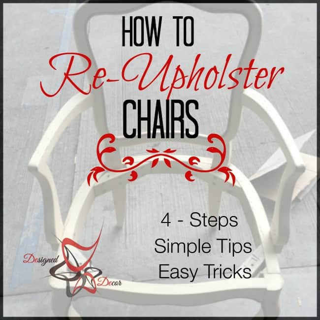How to Upholster Chairs - 4 easy steps