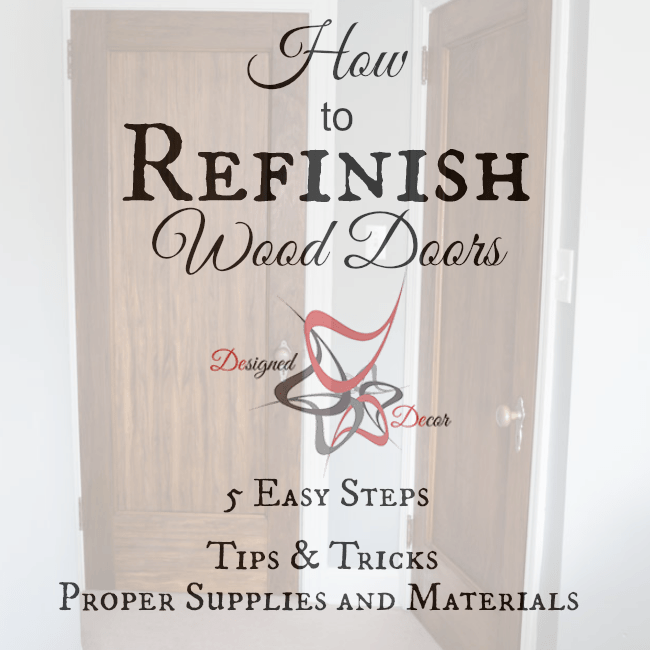 How to refinish Wood doors-