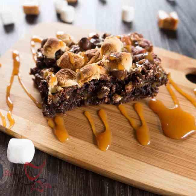 Turtle Brownies-