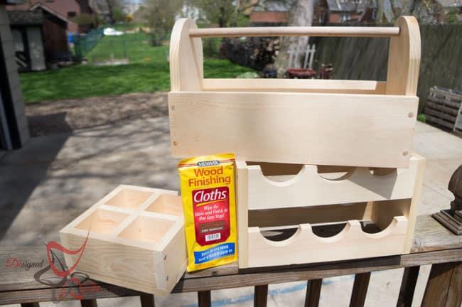 1 Power Tool Challenge- Garden Tool Box- Mason Jar Caddy-Wine Rack-17