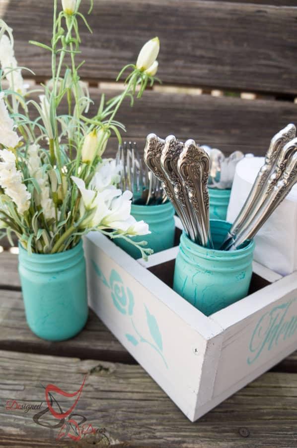 1 Power Tool Challenge- Garden Tool Box- Mason Jar Caddy-Wine Rack-25