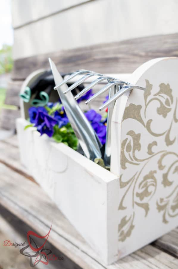 1 Power Tool Challenge- Garden Tool Box- Mason Jar Caddy-Wine Rack-34