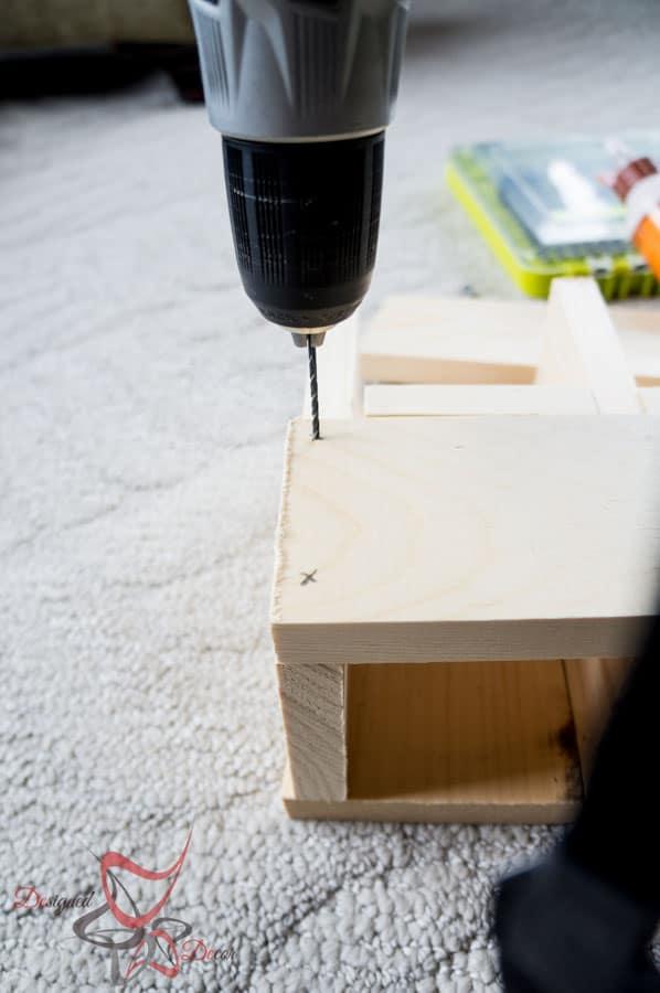 1 Power Tool Challenge- Garden Tool Box- Mason Jar Caddy-Wine Rack-6