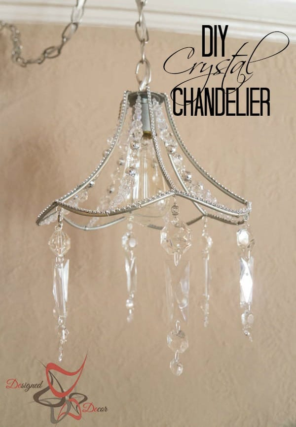 Diy crystal chandelier designed decor diy crystal chandelier pinnable mozeypictures Image collections
