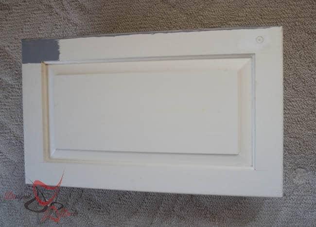 bon appetit - serving tray- repurposed cabinet door_