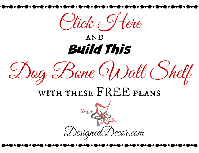 Build this Dog Bone Wall Shelf- Free plans- Ryobi Nation- Dog Days of Summer-Giveaway