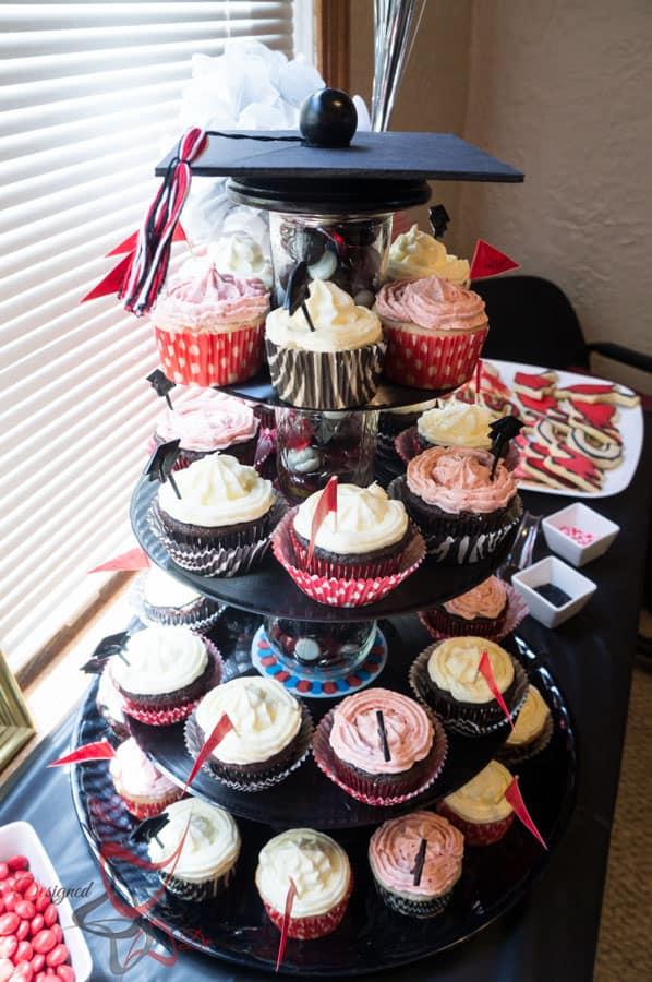 Graduation Party Planning- DIY-CupCake Stand-Table Decorations-Photo Booth-21