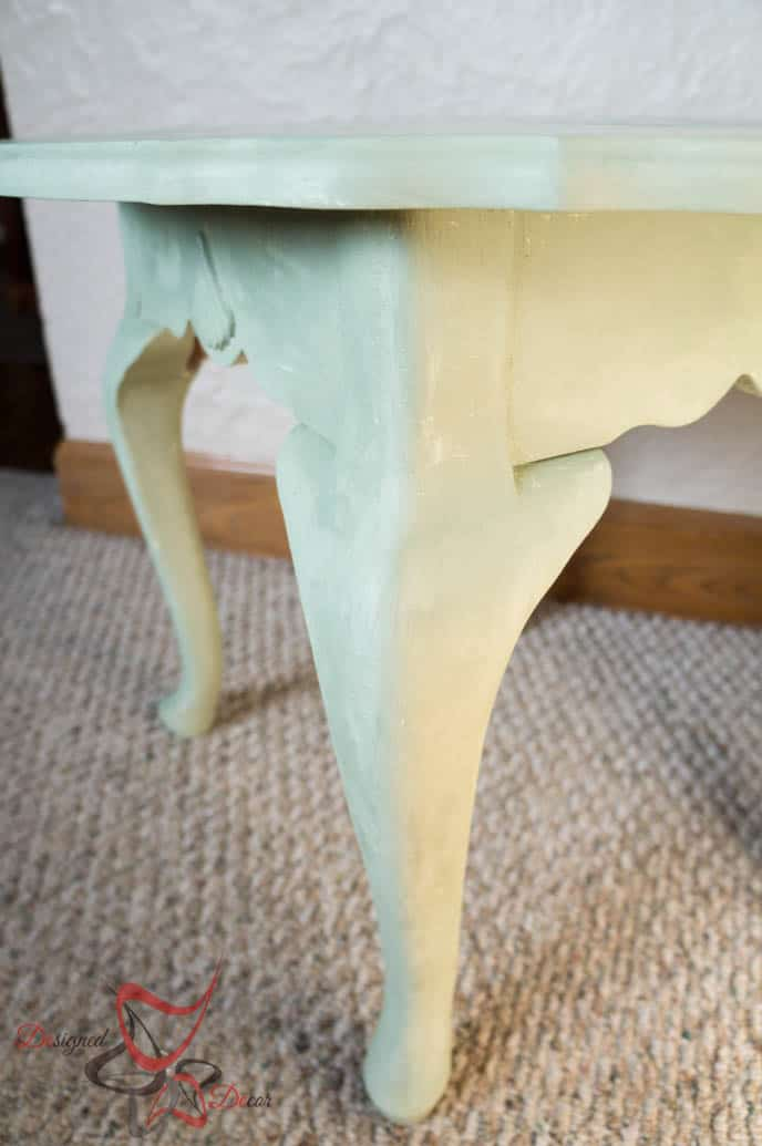 Shell Accent Table with La Chaux French Lime Paint-2