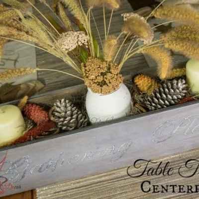 DIY~ Table Trough Centerpiece!