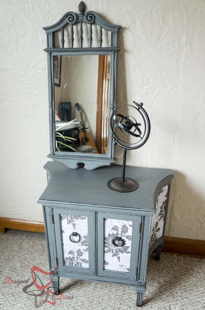 French decoupage side table-3