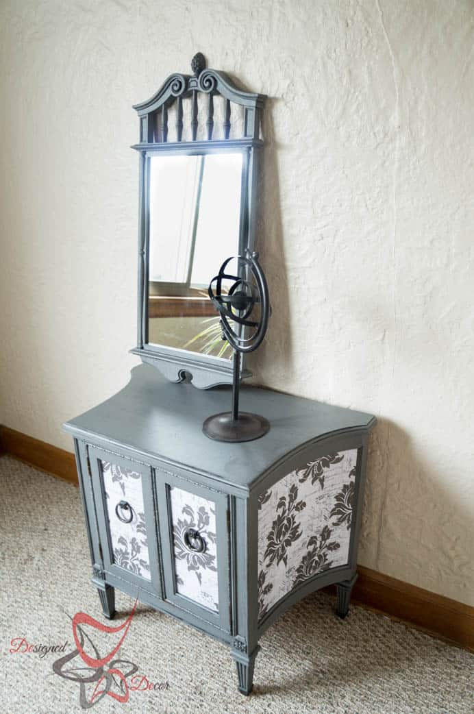 French decoupage side table