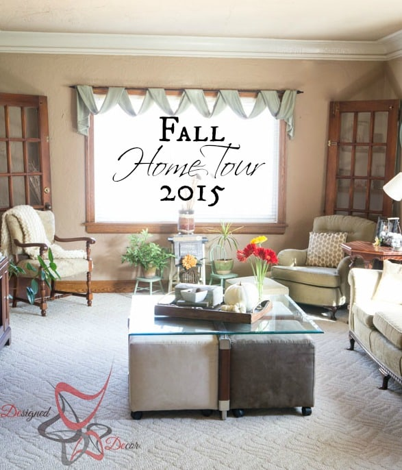 Fall Home Tour 2015 #FallHomeTour2015 pinnable