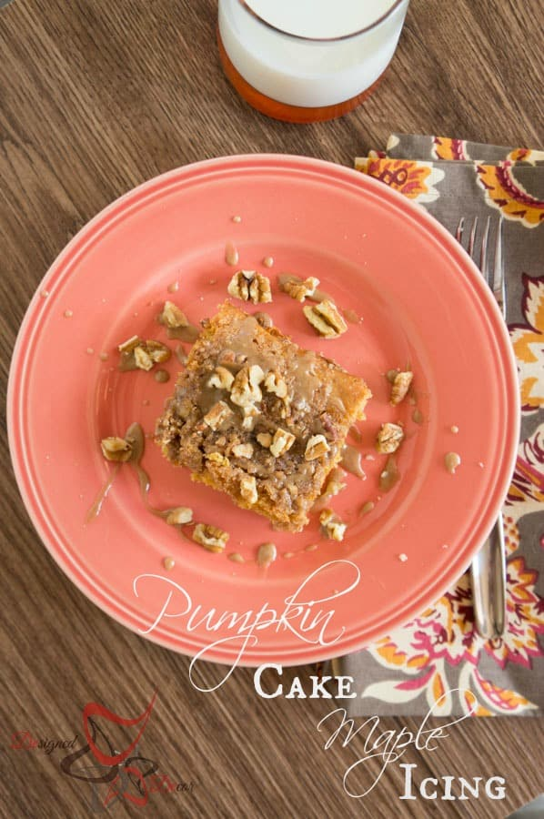 Pumpkin Cake-Maple Icing