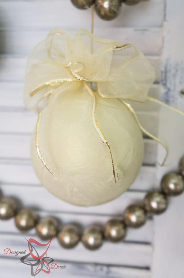 DIY-Paper Mache- Christmas Ornament- Maison Blanche- Organza-Shimmer- Decorating Christmas on a Budget (1 of 7)