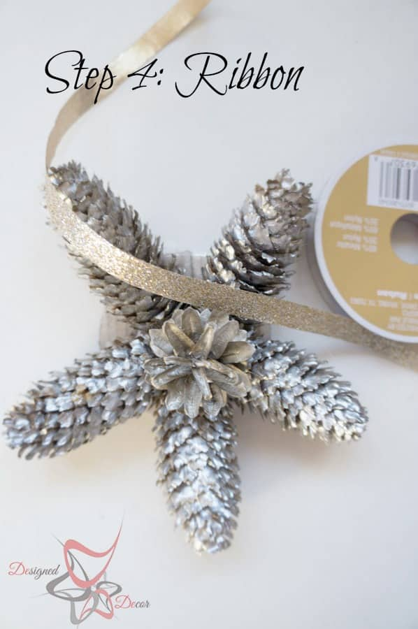 DIY-Pine Cone Christmas Ornaments-Christmas Decorating on a budget step 4