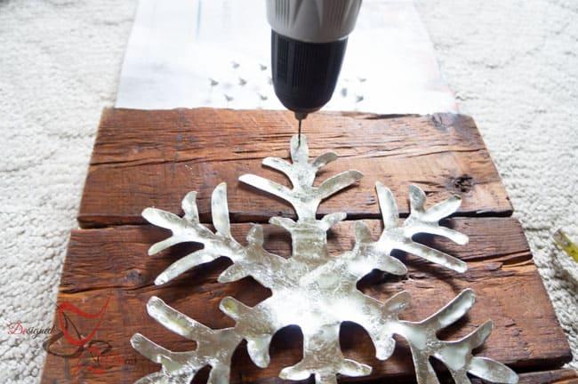 DIY-Wood Block Metal Snowflake - Holiday Decor- Wall Decor- (3 of 13)