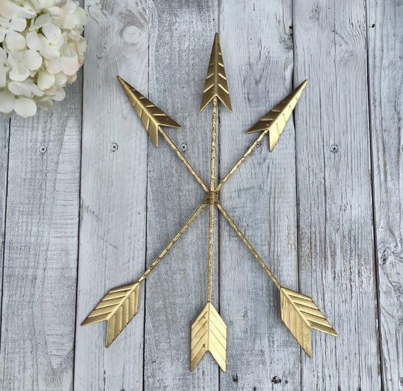 gold arrow wall hanging