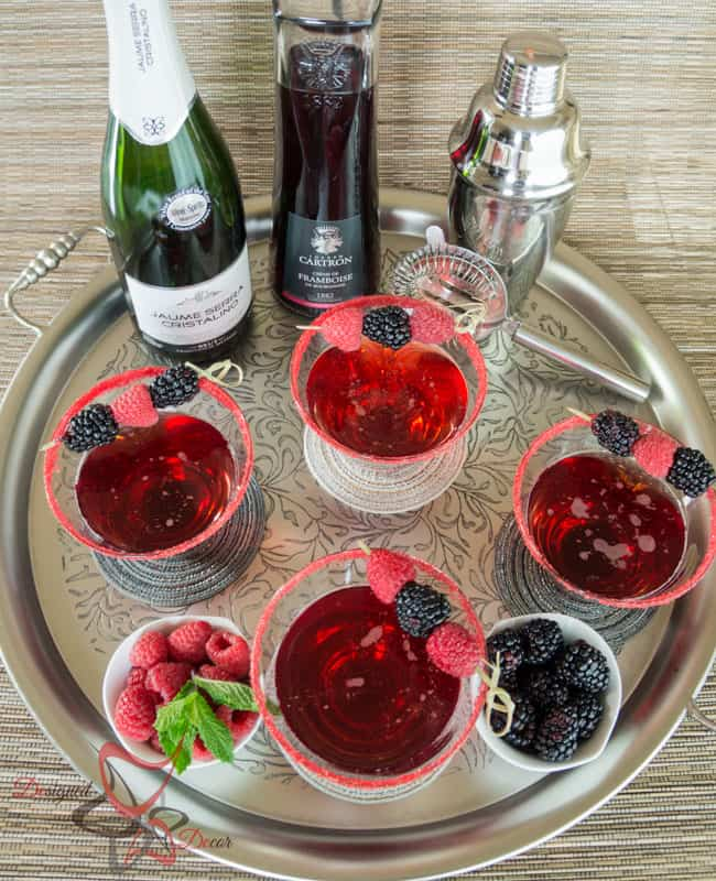 Champagne Raspberry Cocktail (1 of 7)
