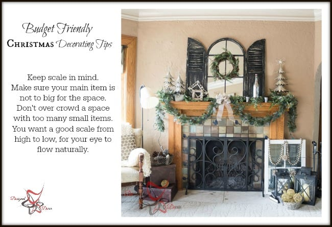 Christmas Decorating tips for the mantel
