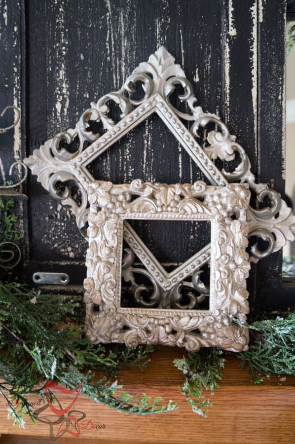 Decorating the Christmas Mantel - DIY- Christmas Decorating on a Budget- Staging a Mantel (33