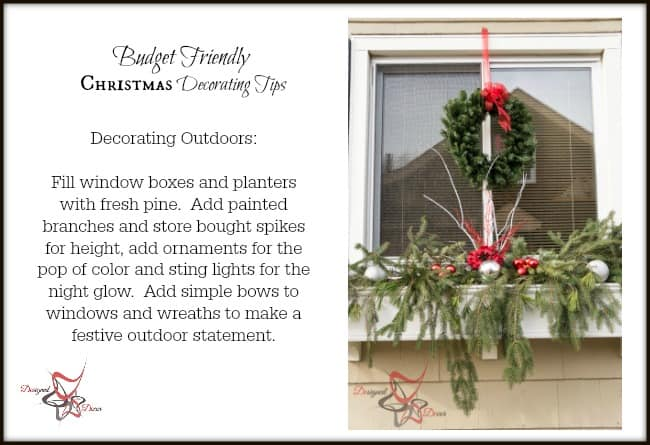 Outdoor Christmas Decorating on a Budget