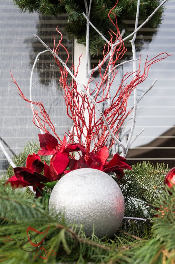 Outside Christmas Decor- Christmas Decorating on a Budget- Flower Boxes- (17 of 21)