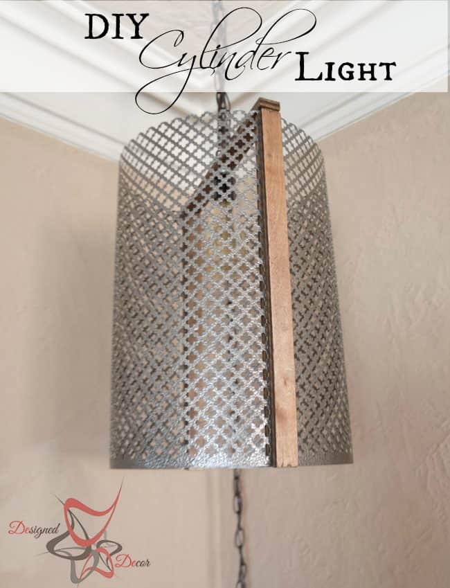 DIY Metal Cylinder Pendant Light pinnable