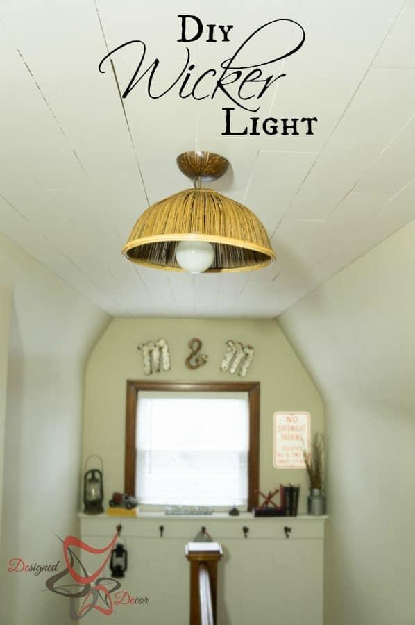 DIY Pendant Light - DIY Wicker Light