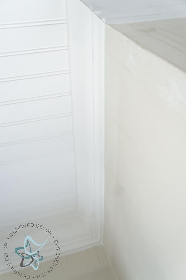 DIY Closet Makeover Beadboard Ceiling-Crown Molding-22