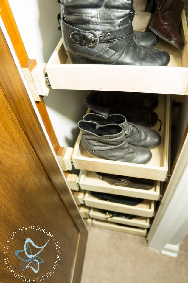 Shoe Closet- Building Pull Out Shelves-20