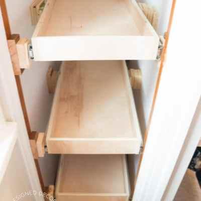 Shoe Closet ~ Building Pullout Shelves!