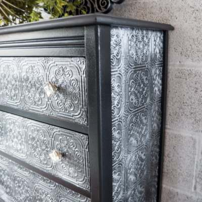 Decoupage WallPaper Dresser!
