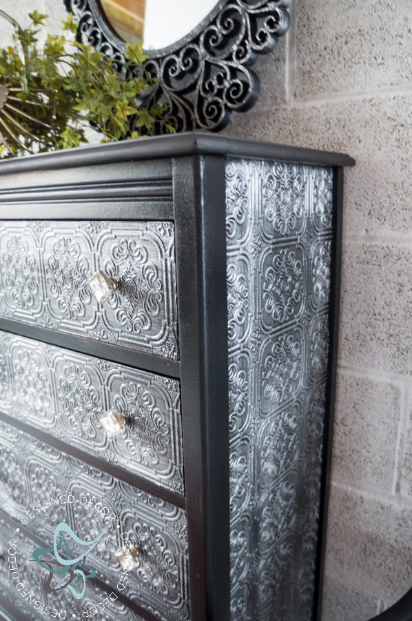 Decoupage Wallpaper Dresser Designed Decor