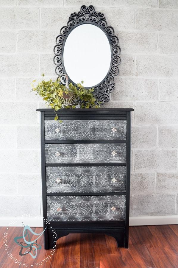 Textured-WallPaper-Dresser- GeneralFinishes- #Sponsor-Painted Furniture (19 of 20)