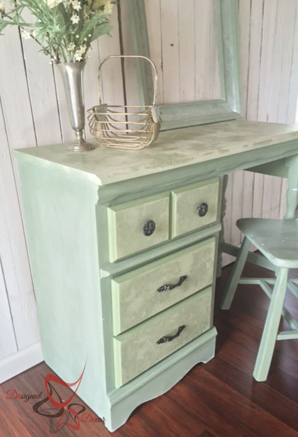 Green Lime Painted Desk