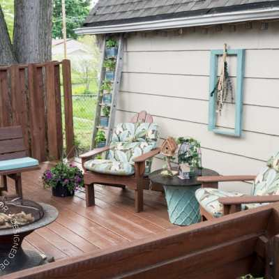 The Easiest Way to Stain a Deck!