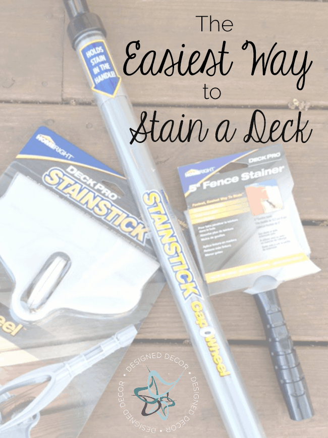 The easiest way to stain a deck