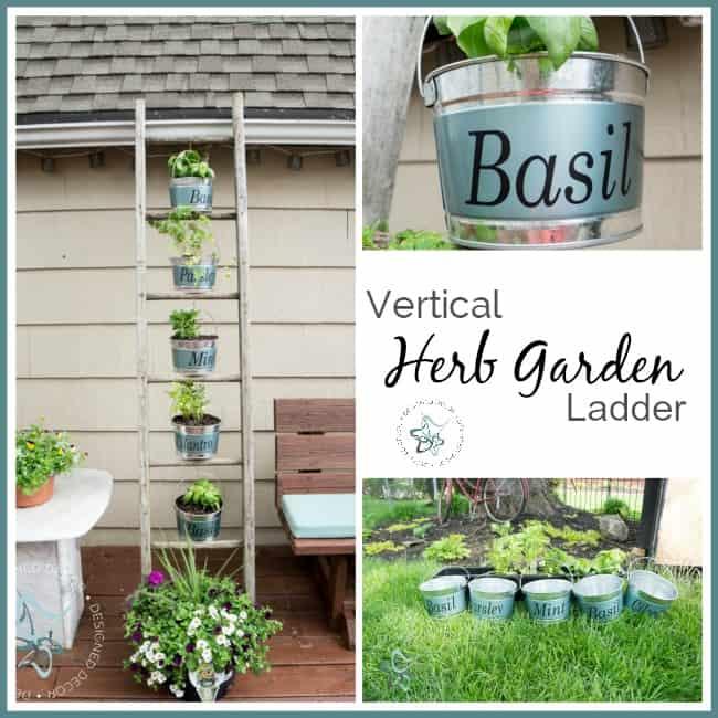 Vertical-Herb-Garden-Repurposed-Ladder