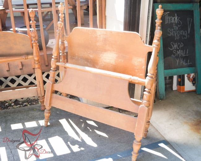 Repurposed Headboard Bench- French Bench- Furniture Stenciling (1 of 8)