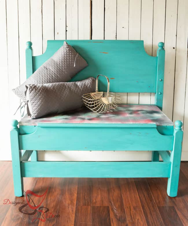 Repurposed-Headboard-Bench-Unicorn Spit- Maison Blanche