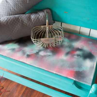 Repurposed Bed Bench!
