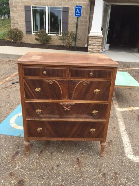 antique dresser before