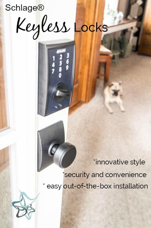 Schlage-Keyless-Locks-Door-Makeover-Easy-Entry-#SchlageKeylessLocks
