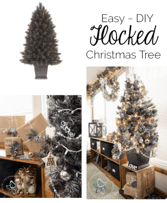 Easy-DIY-Flocked Christmas Tree