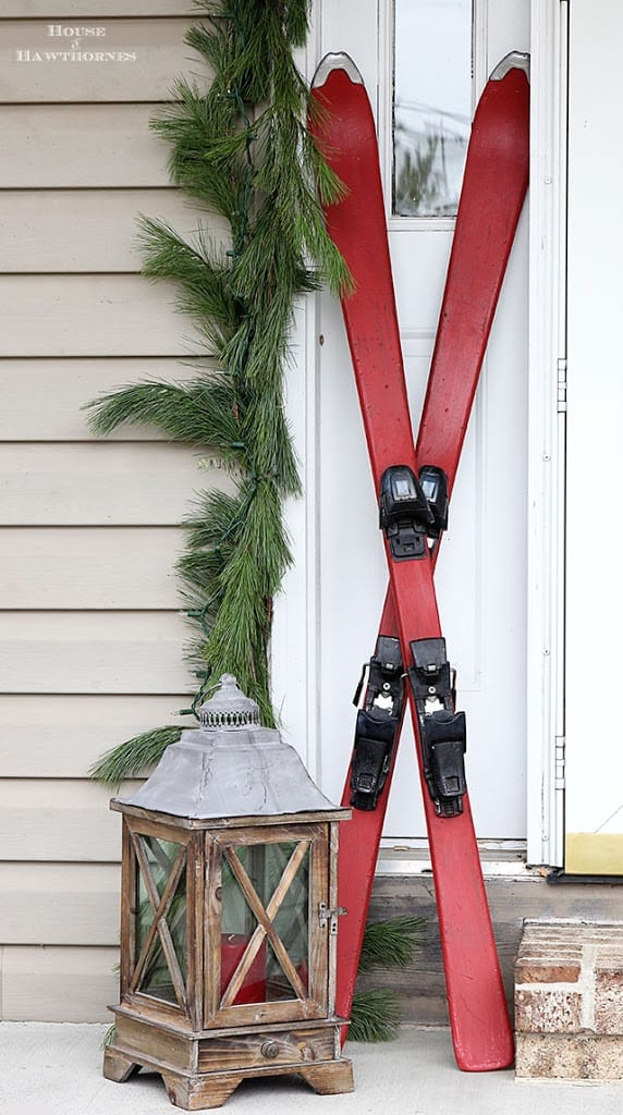 chalk-paint-christmas-skis-porch-house-of-hawthornes