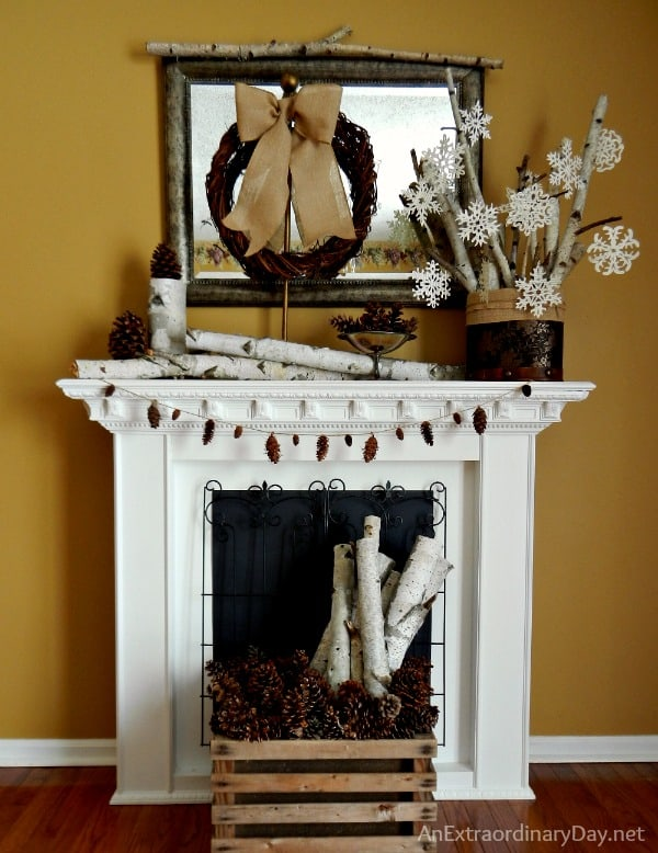 decorating-the-mantel-for-winter-anextraordinaryday-net_
