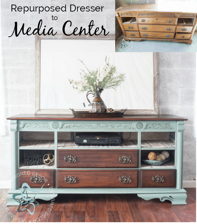 repurposed-dresser-to-media-center