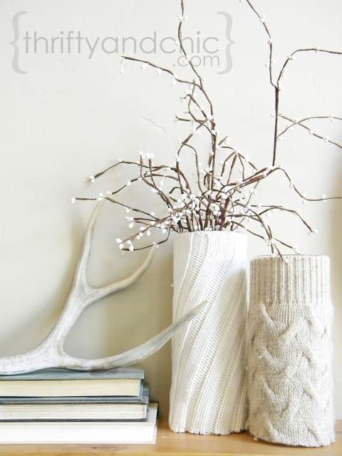 thriftyandchic-sweater-vases