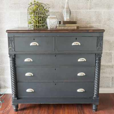 Rustic Glam – Carved Empire Dresser!